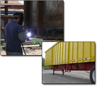 repairs, truck trailers, truck bodies, trailers, roll offs, gondola trailers, luggers, containers, crushed car haulers